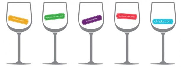 Clingks wine glasses