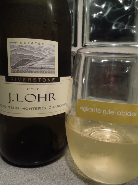 JLohr chardonnay with Clingks drink markers