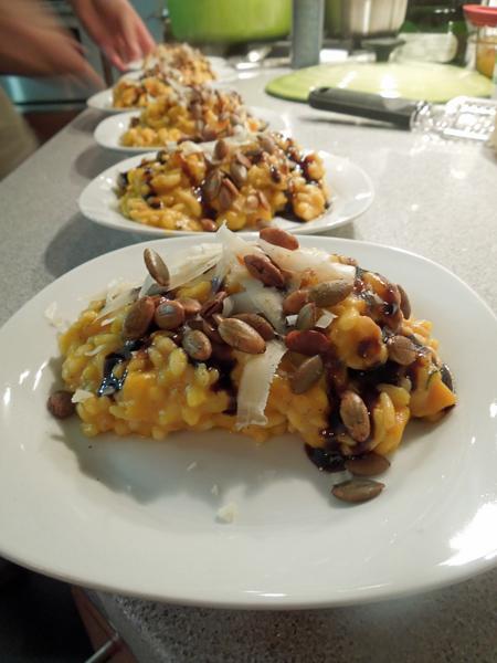 pumpkin and squash risotto