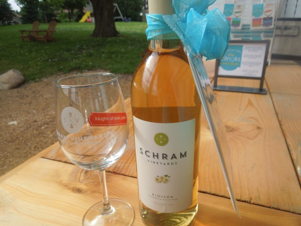 Gift idea:  Schram Vineyard's Blossom wine with a set of Happy Hour Clingks!