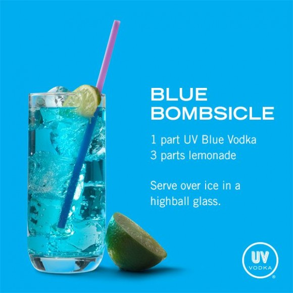 Blue Bombsicle cocktail recipe from UV Vodka