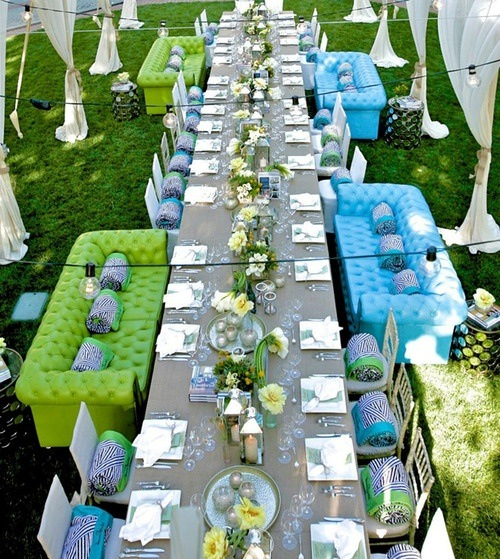 13 unique ideas to use at your next outdoor party - Deco table exterieur ...