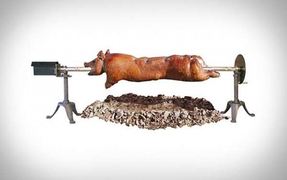 Open Fire Pig Roaster