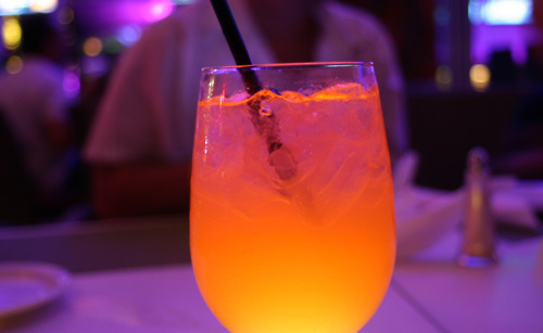 Neon Orange Cocktail
