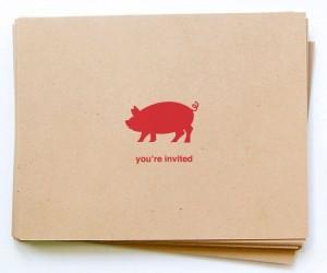 Simple Pig Roast Party Invite