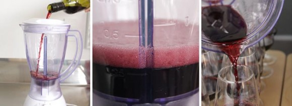 Aerate Wine in a Blender