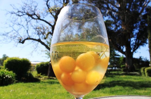 Frozen Grapes Grape Chill Wine in the Glass