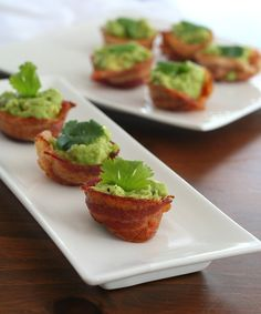 Mini Bacon Guacumole Cups