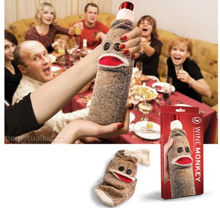 Wine monkey Sock