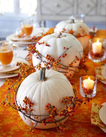 White Pumpkin Centerpiece