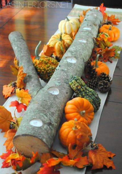 Autumn Log Centerpiece