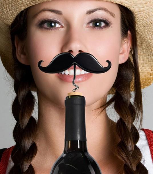 Mustache Corkscrew