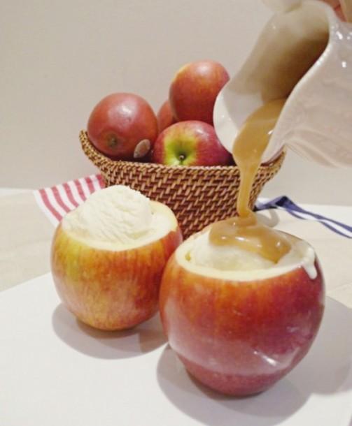 apple cup ala mode
