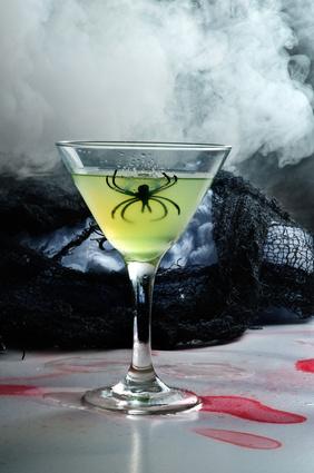 Halloween drink dry ice