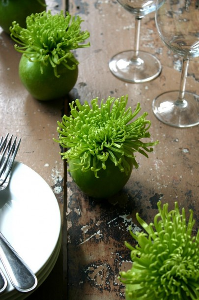 green apple vase