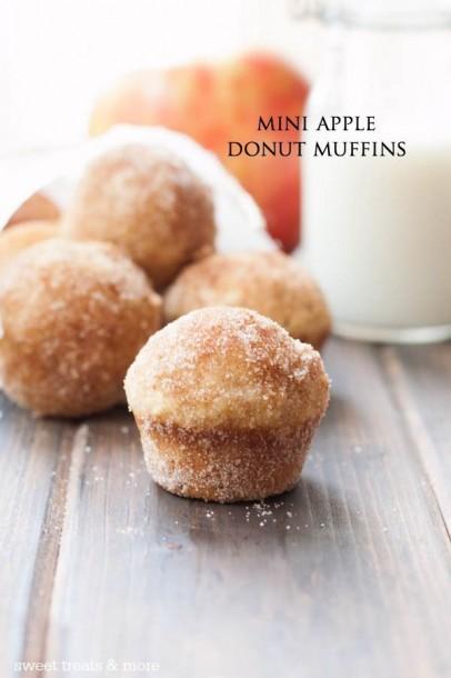 mini apple donut muffins