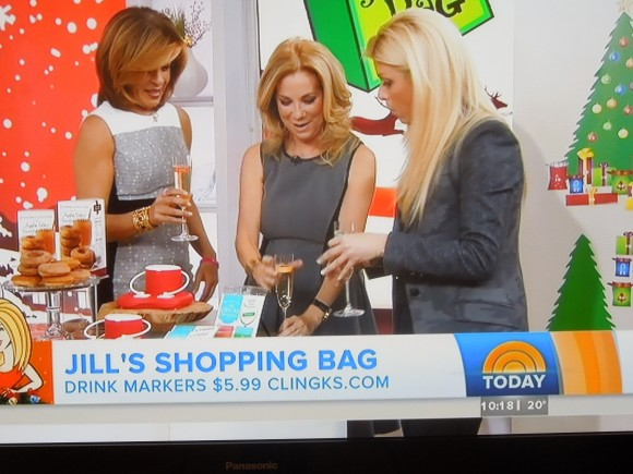 Jill's Shopping Bag featuring Clingks drink markers on Today Show with Kathie Lee & Hoda
