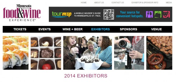 Clingks had a booth at the 2014 Food&Wine Experience sponsored by Minnesota Monthly magazine