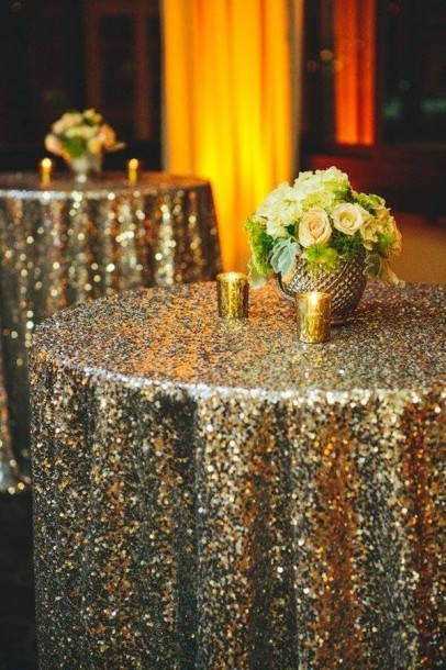 glittery tablecloth