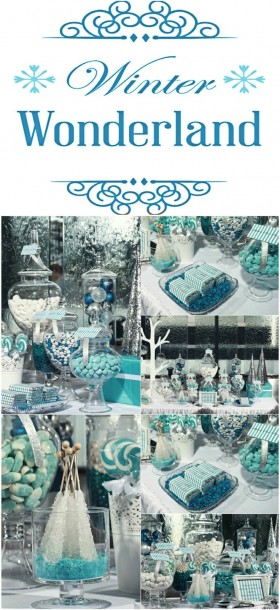 blue and silver winter wonderland