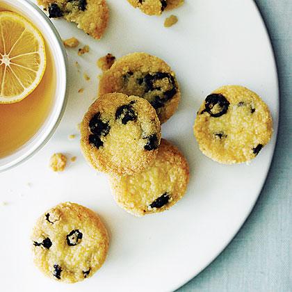 blueberry shortbread bites