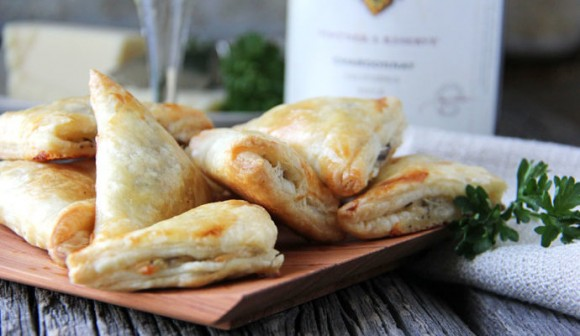 mushroom herb gruyere cheese mini turnovers