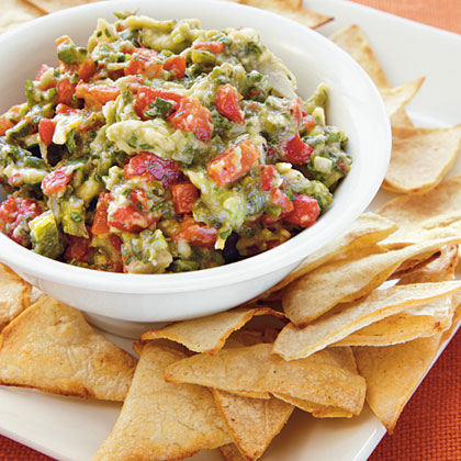 roasted garlic poblano red pepper guacamole