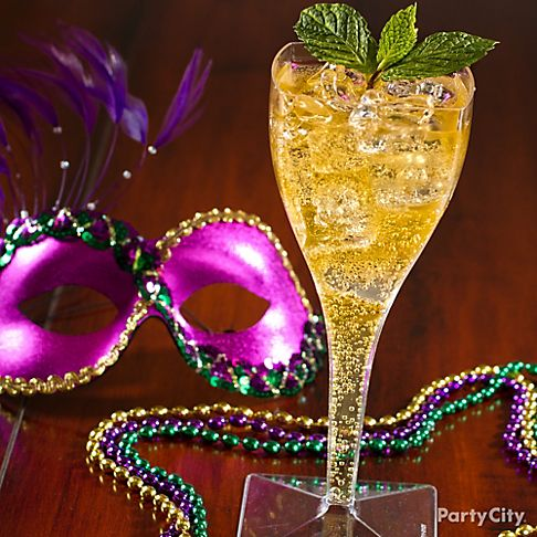 mardi gras masked lady cocktail