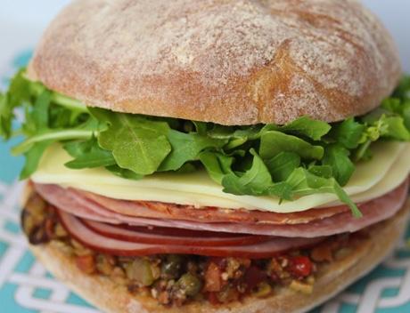 mardi gras muffuleta sandwich