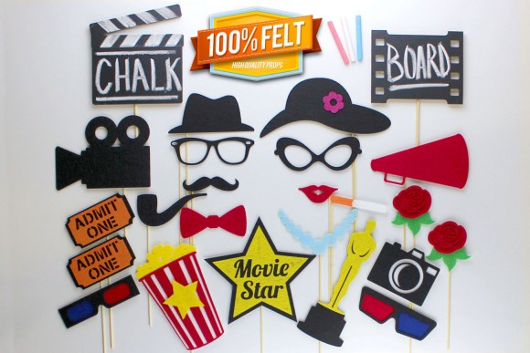 oscar photo booth props