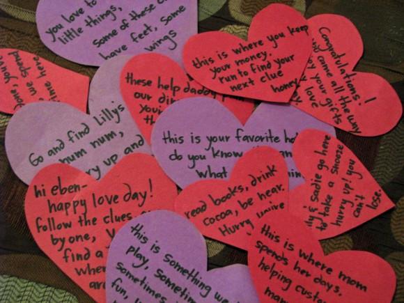 valentines treasure hunt