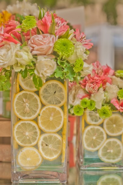 lemon floral decoration centerpiece