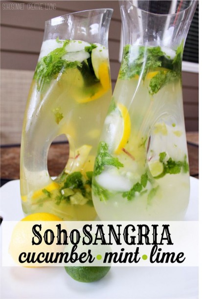 soho sangria cucumber lime mint