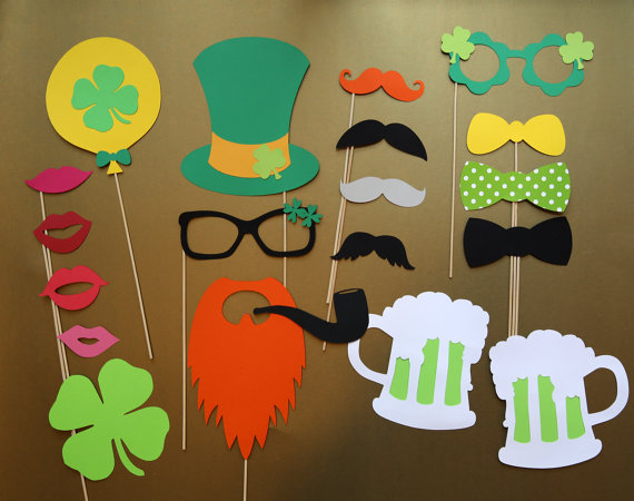 st pattys photo booth props