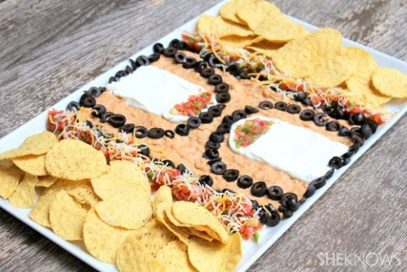 7 layer court taco dip
