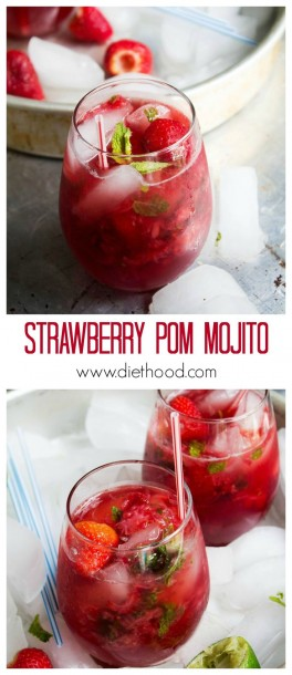 strawberry pomegranate mojito