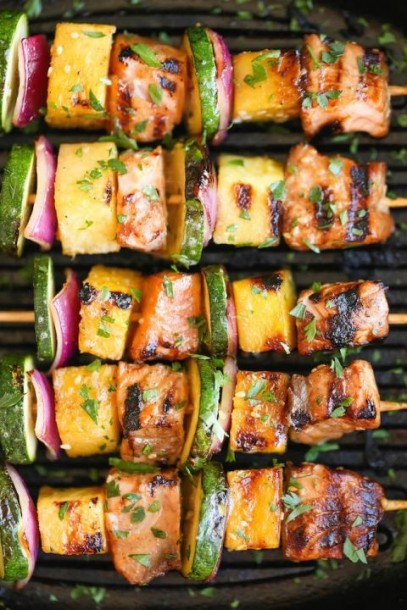 asian salmon kabob