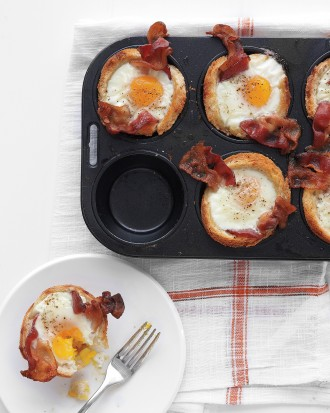 bacon eggs toast cups