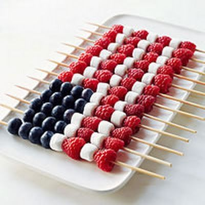 flag fruit kabob