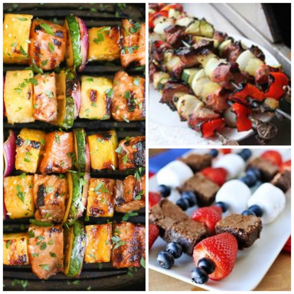 kabobs collage