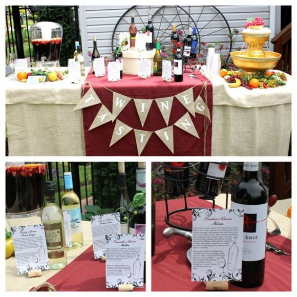 wine tasting themed bridal shower