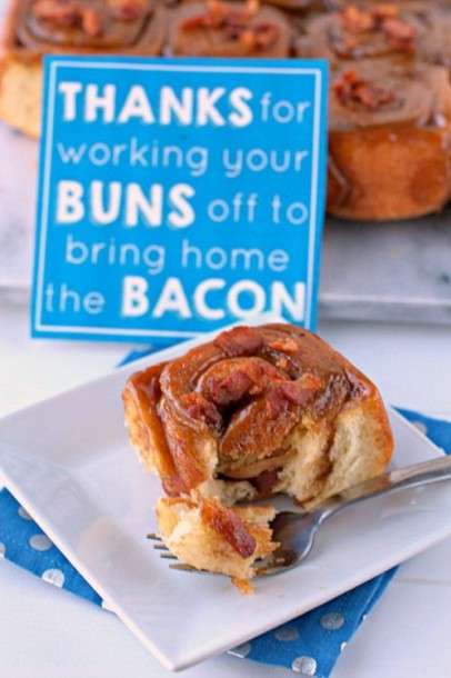fathers day bacon buns
