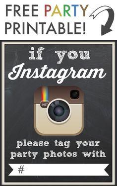 instagram printable