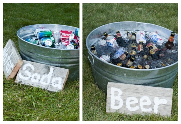 soda and beer tubs