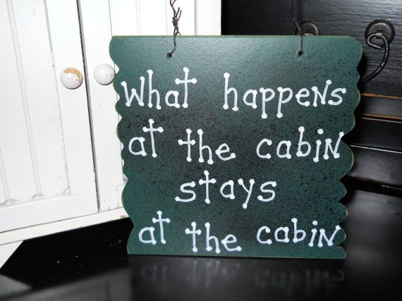 cabin welcome signs