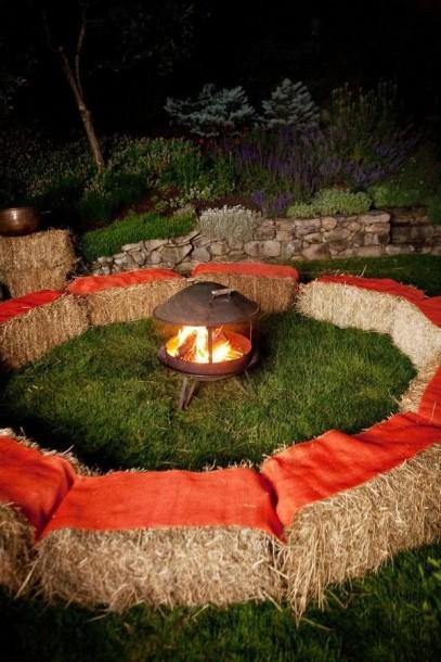 campfire hay seats