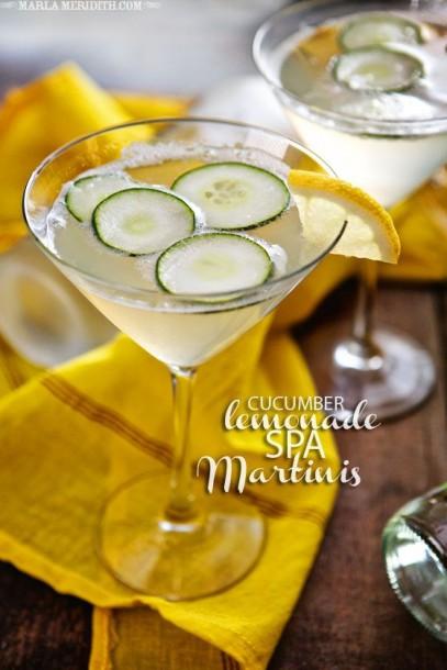 cucumber lemon spa martini