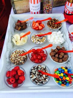 ice cream toppings bar