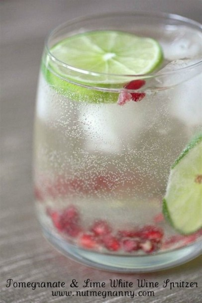 pomegranate white wine spritzer
