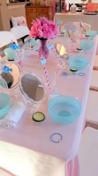 spa day tablescape